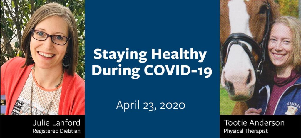 Staying Healthy During COVID-19 Stream