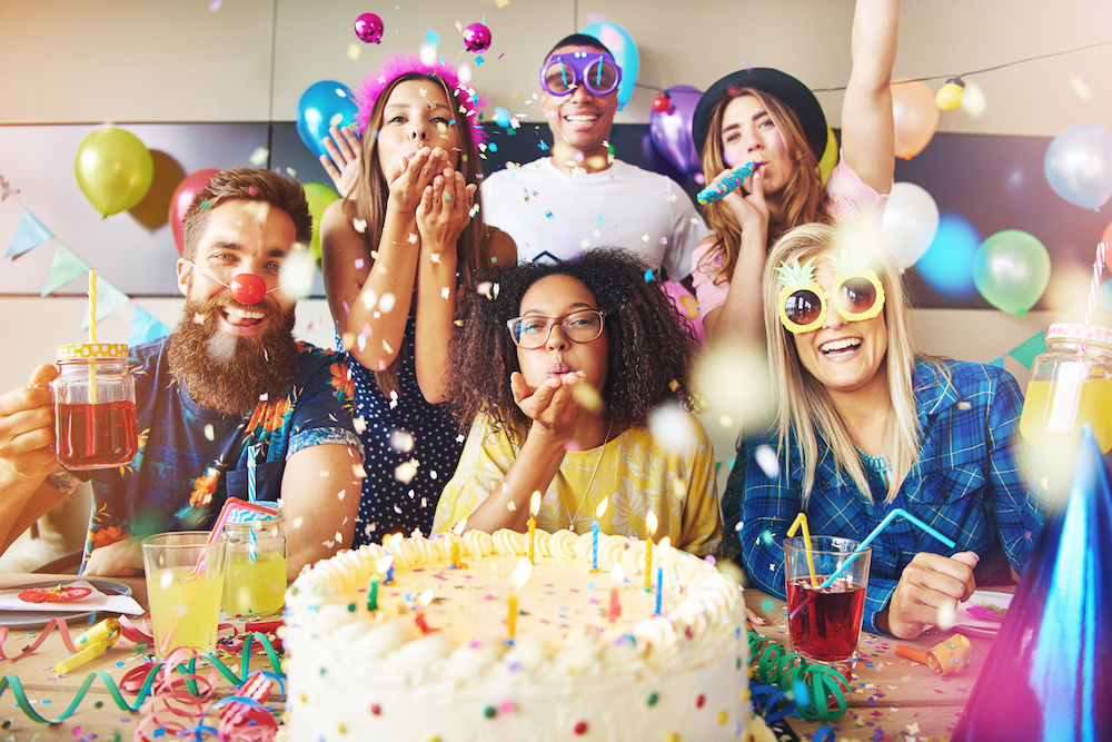 People Celebrating a Birthday