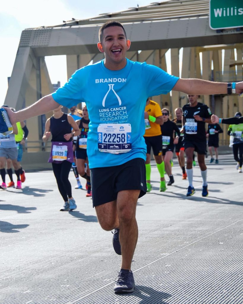 Lung Cancer Marathon Runner