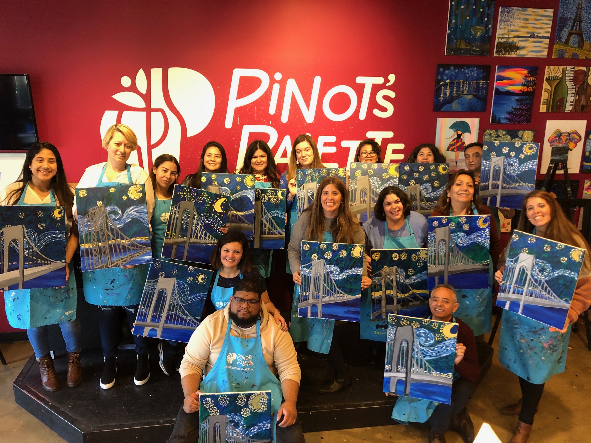 Paint and Sip fundraiser honors father