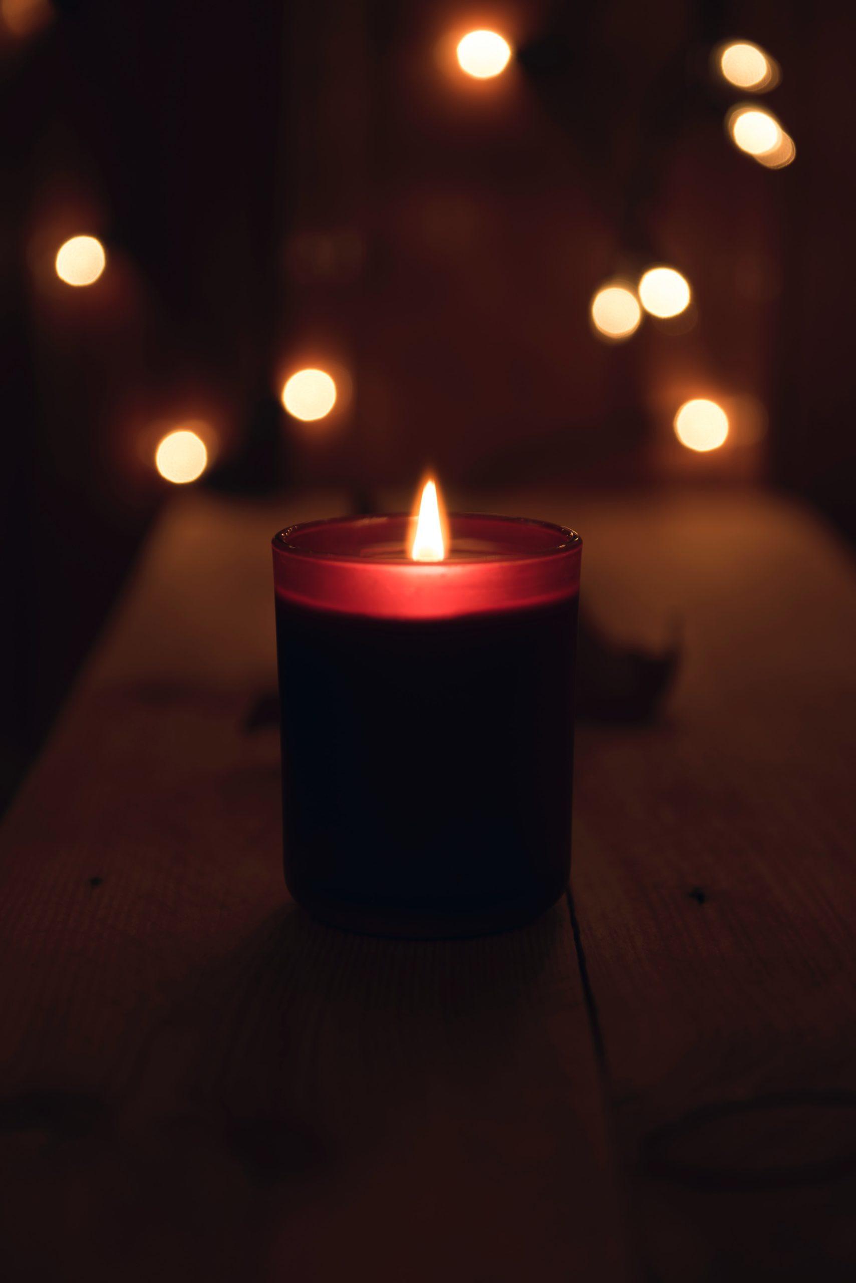 Memorial Candle Lit