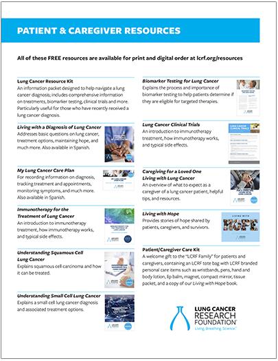 Patient & Caregiver Resources Flyer