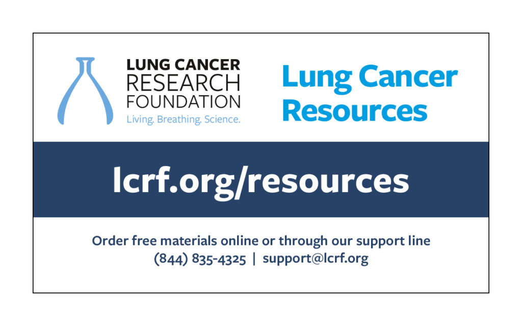 Lung Cancer Resources Card