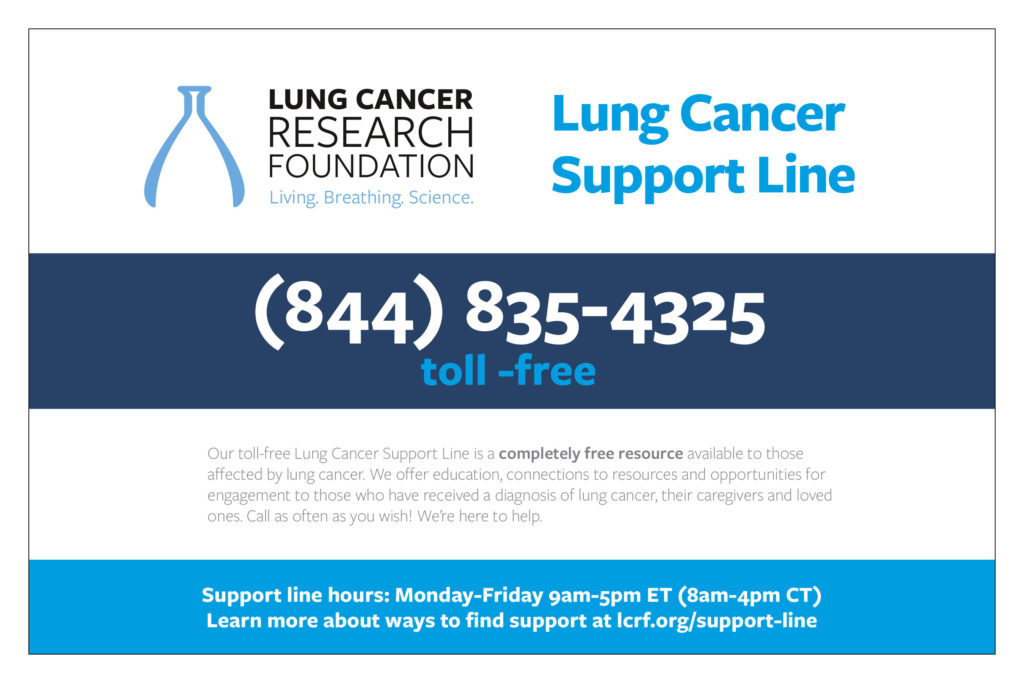 Lung Cancer Support Line Flyer